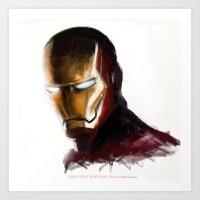 ironman Art Prints featuring Ironman by Emiliano Morciano (Ateyo)