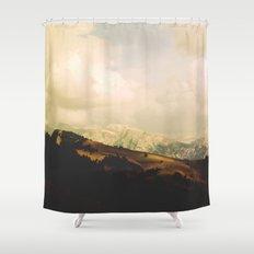 Mountain view Shower Curtain