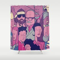 royal tenenbaums Shower Curtains featuring The Royal Tenenbaums by Ale Giorgini