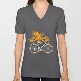 Funny Cycling T Shirt I octopus MTB gift Unisex V-Neck