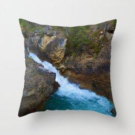 Beauty Creek & Stanley Waterfalls in Jasper National Park, Canada Throw Pillow