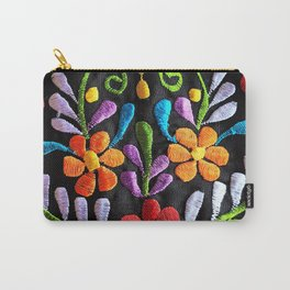 Mexican Flowers Carry-All Pouch