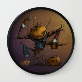 Freddy Pumpkins Wall Clock