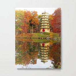 Jade Buddha Pagoda Metal Print