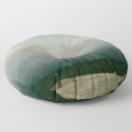 Caspar David Friedrich - The Monk by the Sea Floor Pillow