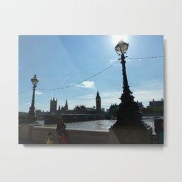 London Lamps Metal Print