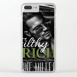 Filthy Rich Book Cover Clear iPhone Case