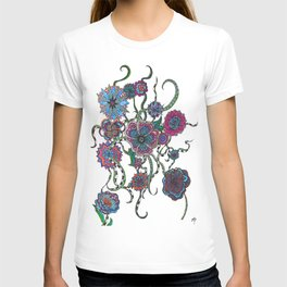 Chaotic Blooms T-shirt