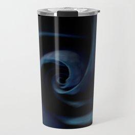 Deep Blue Rose Travel Mug