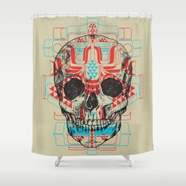 Skull Native Shower Curtain