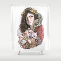 lorde Shower Curtains featuring Lorde by Susan Lewis