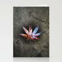 marijuana Stationery Cards featuring Marijuana Leaf - Design 2 by Spooky Dooky