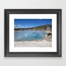 Left my heart in Yellowstone Framed Art Print