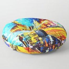 Tardis Art Starry Street Night Floor Pillow