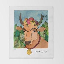 Frida Cowlo Throw Blanket