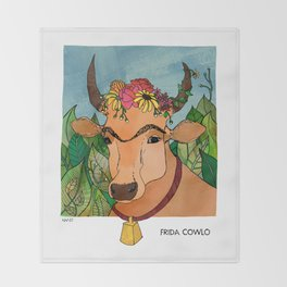 Frida Cowlo Throw Blanket