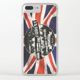 God save the forest Clear iPhone Case