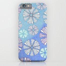 sea urchin blue watercolor iPhone Case
