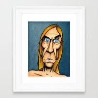 iggy pop Framed Art Prints featuring Iggy Pop by Andres Denkberg