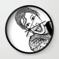 amelie Wall Clocks featuring Amelie by Addison Karl