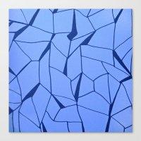 blueprint Canvas Prints featuring BluePrint by Elina Larsson