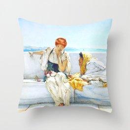 """Sir Lawrence Alma-Tadema """"A Solicitation"""" Throw Pillow"""