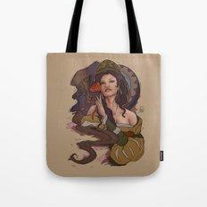 Beauty and the Beast Flat Art Tote Bag