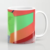 metroid Mugs featuring Vector Metroid by LoweakGraph