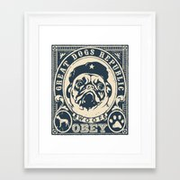 obey Framed Art Prints featuring OBEY by frail