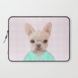 Portrait Of French Bull Dog Laptop Sleeve