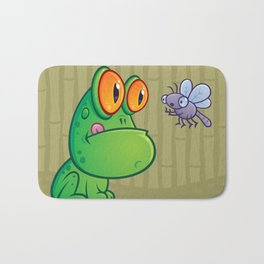 Frog and Dragonfly Bath Mat