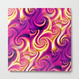 Awesome Lushness Pattern (magenta and gold) Metal Print