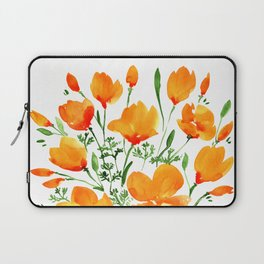Watercolor California poppies Laptop Sleeve
