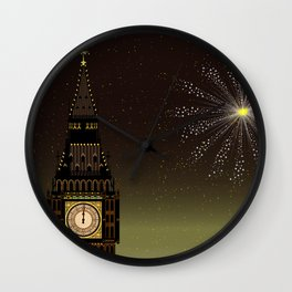 Big Ben And New Year Wall Clock