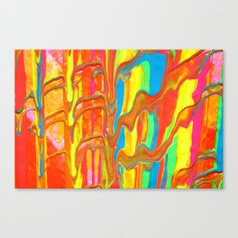 The Manipulation Of Paint #9 Canvas Print