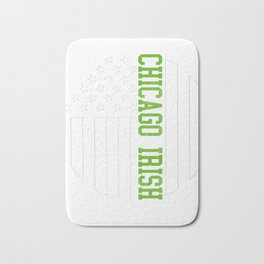 Chicago Irish products by Howdy Swag print Bath Mat
