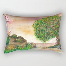 Countryside Watercolor Illustration Rectangular Pillow