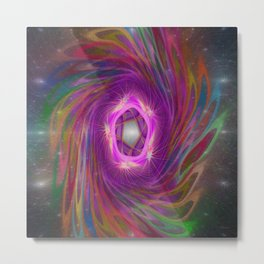 Space Time Jump Portal Metal Print