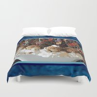 """arctic monkeys Duvet Covers featuring Monkeys """"Tub Monkeys"""" by Ruby and Gunther"""