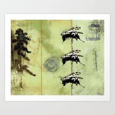 Flypaper Art Print