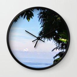View of Caribbean Sea in Ocho Rios Jamaica Wall Clock