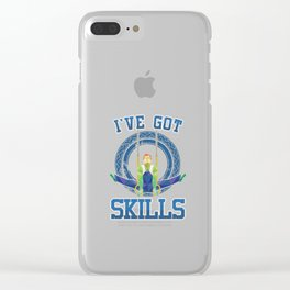 Pro Aerialists Rope Dancers Trapeze Aerobic Gymnasts I've Got Skills Acrobat Gifts Clear iPhone Case