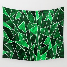 Shattered Emerald Wall Tapestry