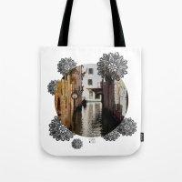 venice Tote Bags featuring Venice by Caroline Fogaça