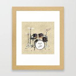 Drumkit Framed Art Print