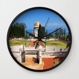 Bahai Gardens Wall Clock