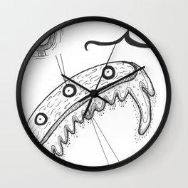 Imaginary Microscopic Water-Feelers Diagram Wall Clock