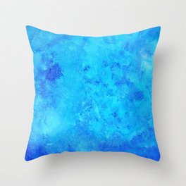 Blue abstract two Throw Pillow