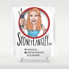 Sydney Langley Illustration Logo Shower Curtain