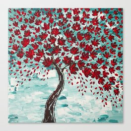 Red Cherry Tree Canvas Print